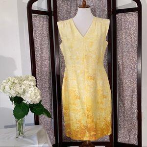 Antonio Melani yellow sleeveless dress.
